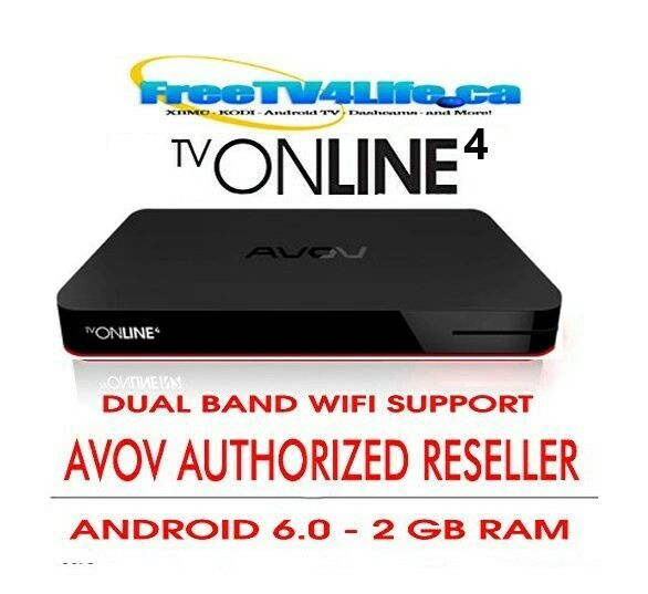 2020 AVOV TVONLINE4 2G/8G Android 4K IPTV Set Top BOX DUAL WIFI - REPLACES N2