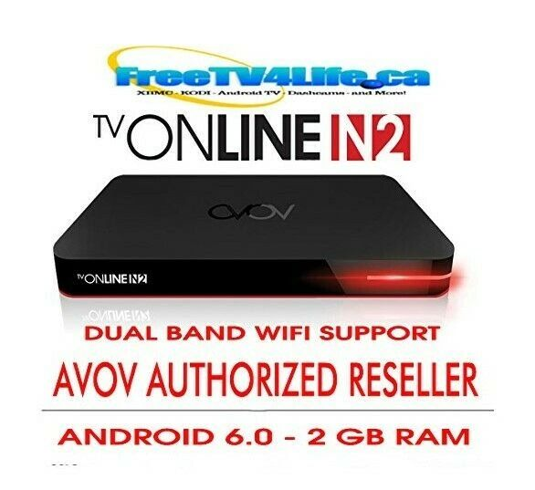 2020 AVOV TVONLINE N2 - 2G/8G Android 4K IPTV Set Top BOX DUAL WIFI - REPLACES TVONLINE4