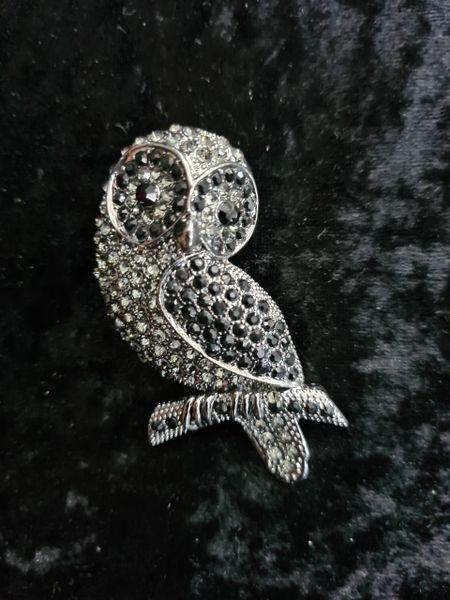 Elegant Wise Owl brooch