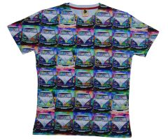 Men's camper van digital printed T-shirts