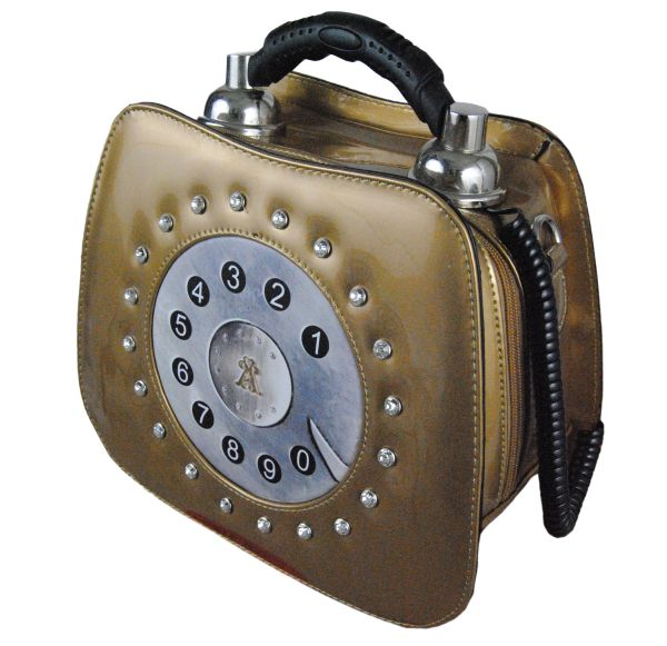 Telephone shaped novelty lady's handbag / shoulder bag.
