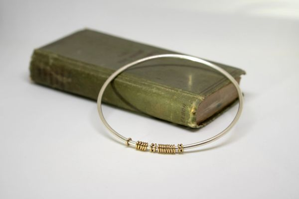 Sterling silver abacus bangle