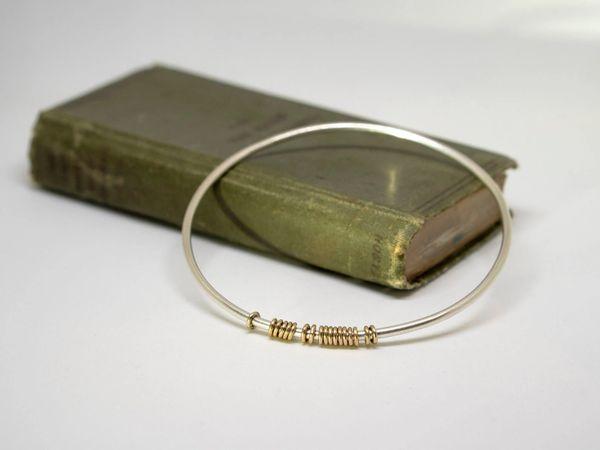 Silver abacus bracelet