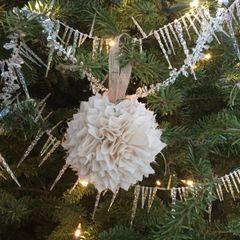 Fabric Rag Ball Vintage Christmas Tree Ornament
