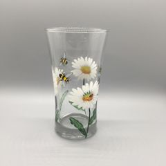Daisies with Ladybugs and Bumblebees Flower Vase