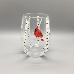 Birch Tree with Cardinal, Stemless