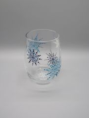 Tri Color Snowflakes Stemless