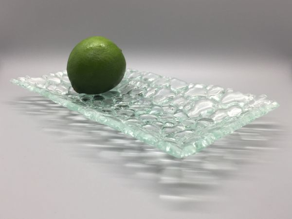 Fused Glass Rectangular Plate