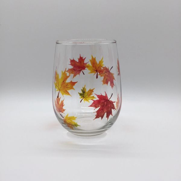 Autumn Maple Falling Leaves