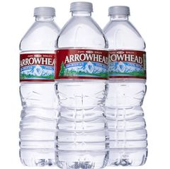 Drinks: Arrowhead Water ($.75ea)