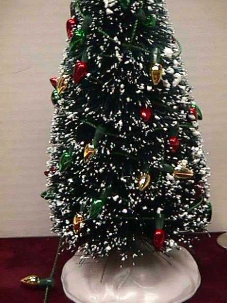 Christmas Dollhouse Miniatures.Dollhouse Miniature Christmas Tree Bulb String Of Lights