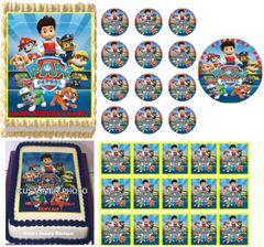 PAW PATROL Edible Cake Topper Image Frosting Sheet Cake Decoration Cupcakes Paw Patrol