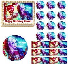 Suicide Squad Harley Quinn Edible Cake Topper Image Frosting Sheet Cake Decoration