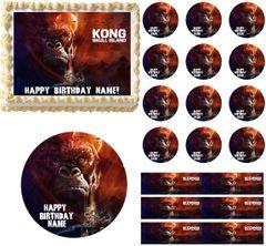 King Kong Skull Island Edible Cake Topper Image Frosting Sheet