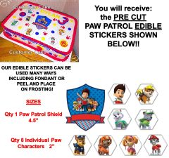 Paw Patrol Characters Edible Cake Stickers Paw Patrol Cake Cut Outs Edible Decals for Cake