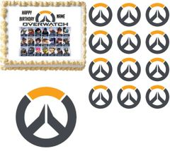 Overwatch Characters Gaming Edible Cake Topper Image Cupcakes