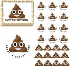 Poop Emoji Edible Cake Topper Image Cupcakes Poop Emoji Cake Poop Emoji Cupcakes