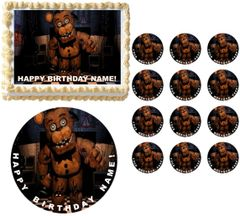 FIVE NIGHTS AT FREDDY'S Freddy Hand Edible Cake Topper Image Frosting Sheet
