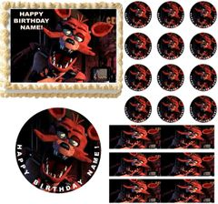 FIVE NIGHTS AT FREDDY'S FOXY FOX Edible Cake Topper Image Frosting Sheet