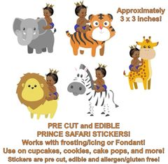 Little Prince Jungle Animals Edible Cake Stickers Edible Pre Cut Prince Stickers