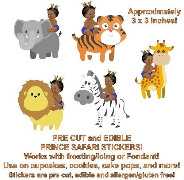 Little Prince Jungle Animals Edible Cake Stickers Edible Pre Cut Prince Stickers