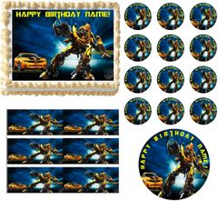 TRANSFORMERS BUMBLEBEE Edible Cake Topper Image Frosting Sheet