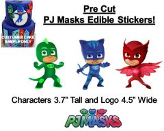 Pre Cut PJ Masks Characters EDIBLE Cake Stickers PJ Masks Cake Edible Stickers