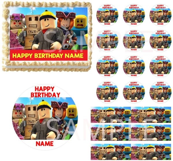 Roblox Characters EDIBLE Cake Topper Image Cupcake Toppers Roblox Cake Decor