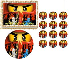 NINJAGO RED NINJA Edible Cake Topper Image Frosting Sheet
