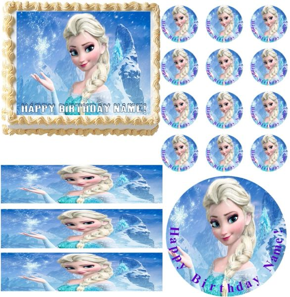 FROZEN ELSA Edible Cake Topper Image Frosting Sheet