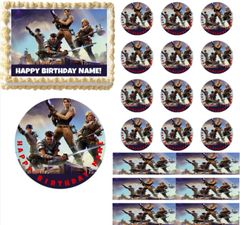 Fortnite Gaming Characters EDIBLE Cake Topper Image Frosting Sheet Cupcakes