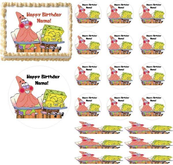 What's Funnier Than 24 Spongebob Squarepants EDIBLE Cake Topper Print Cupcakes Cake Strips Wraps