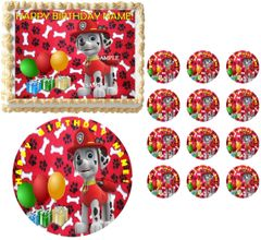 PAW PATROL MARSHALL Edible Cake Topper Image Frosting Sheet
