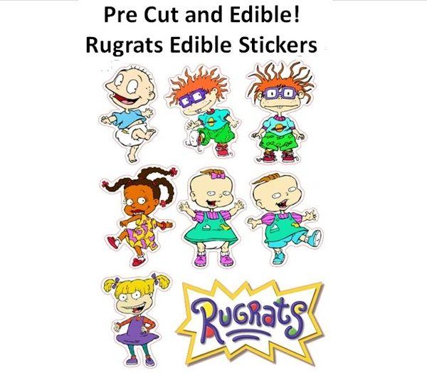 Pre Cut Rugrats Edible Cake Cupcake Stickers Decals, Rugrats Cake, Rugrats Cupcakes