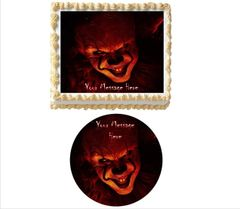 It Chapter 2 Pennywise Clown Edible Cake Topper Image Cupcakes, Creepy Clown Cake, Scary Clown