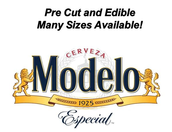 Pre Cut Cerveza Modelo Liquor Label EDIBLE Cake Decal Topper Image, Modelo Cake Label, Modelo Label Cupcakes