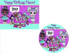 LOL Surprise Dolls EDIBLE Cake Topper or Cupcakes, LOL Surprise Dolls Cake, LOL Surprise Dolls Cupcakes, LOL Surprise Dolls Edible