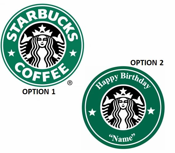 Starbucks Coffee EDIBLE Cake Topper or Edible Cupcakes, Starbucks Cake, Starbucks Cupcakes, Personalized Starbucks Edible Image