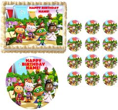 SUPER WHY Characters Edible Cake Topper Image Frosting Sheet