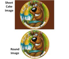 Scooby Doo EDIBLE Cake Image for Cake or Cupcakes, Scooby Doo Cake, Scooby Doo Cupcakes