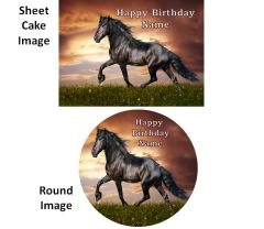 Black Stallion Horse EDIBLE Cake Cupcakes Topper Image, Horse Cake, Horse Cupcakes, Horse Edible Image, Horse Party Supplies, Black Stallion Horse