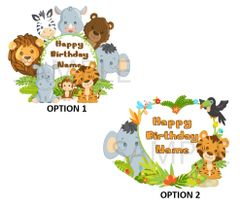 Jungle Safari Animals Edible Cake or Cupcake Topper Image, Jungle Safari Animals Cupcakes, First Birthday, Baby Shower, Monkey, Lion, Tiger