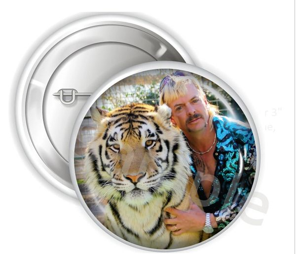 "Joe Exotic Tiger King Pinback Buttons, 2.25"" or 3"" Party Buttons, Funny Joe Tiger Button, Tiger King Buttons"