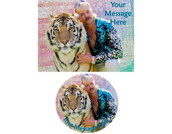 Tiger King Joe Exotic Edible Image for Cake or Cupcakes, Tiger King Cake, Joe Exotic Cake, Tiger King Cupcakes