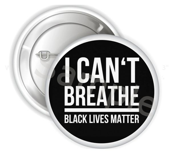 "I Can't Breathe Black Lives Matter Pinback Buttons, 2.25"" or 3"" Buttons, BLM Buttons, Social Justice Buttons, Protest Buttons, Lives Matter"