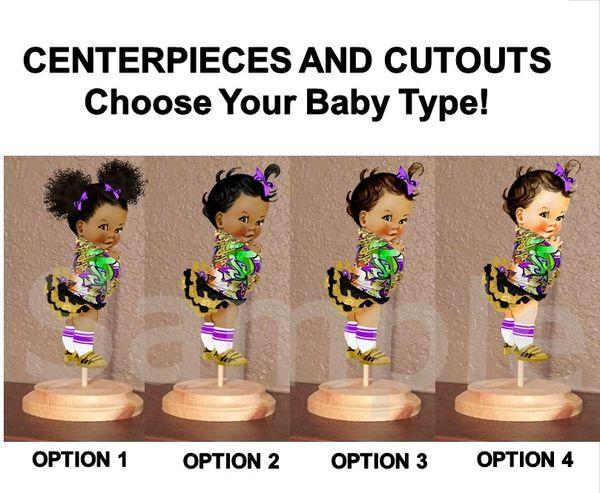 Hip Hop Graffiti Jacket Baby Girl Centerpiece with Stand OR Cut Outs, Hip Hop Girl Centerpieces, 80's 90's Baby