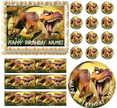 DINOSAUR T REX Ice Age Edible Cake Topper Image Frosting Sheet