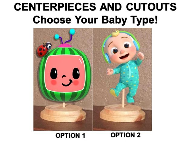 Cocomelon Characters Centerpiece with Stand OR Cutouts, Cocomelon Centerpiece, Cocomelon Baby Centerpiece