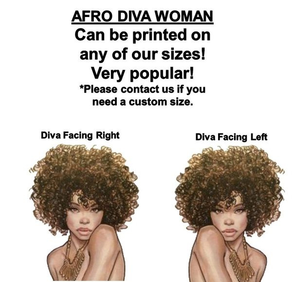 Afro Diva Black Beauty Edible Cake Topper Image Afro Woman Cake 70's Afro Woman