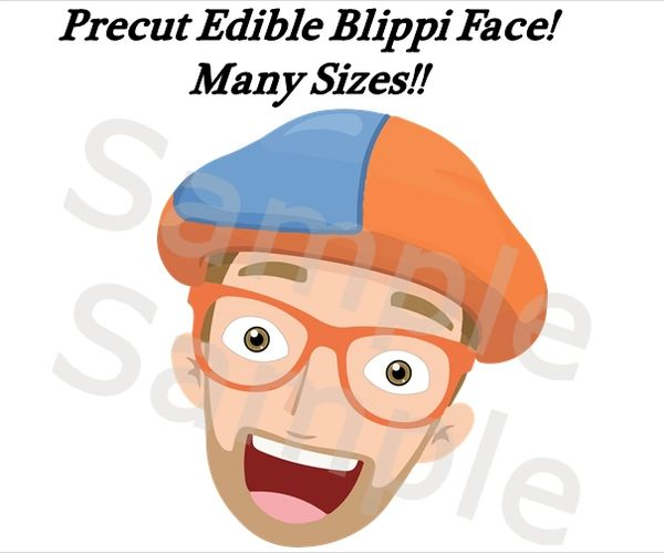Blippi Face EDIBLE Image Cake Topper, Blippi Face Edible Cupcake Image, Blippi Birthday Party